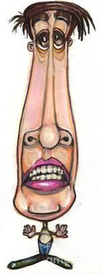 Bobblehead Drawing - Cartoon No 92 by Edward Ruth