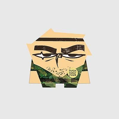 Rambo Digital Art - Cartoon Owl Rambo by Shin Del