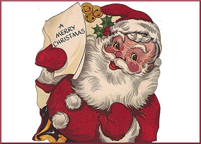 Photograph - Cartoon Santa by David and Lynn Keller