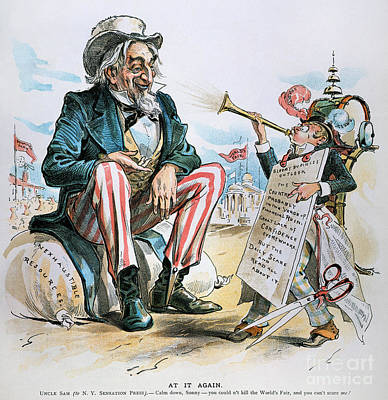Photograph - Cartoon: Uncle Sam, 1893 by Granger
