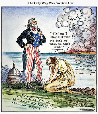 Cartoon: U.s. Intervention Art Print