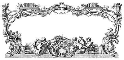 Cartouche, 1755 Art Print by Granger
