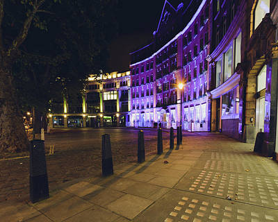 Photograph - Cartwright Gardens By Night B by Jacek Wojnarowski