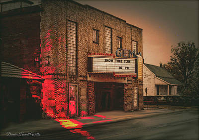 Digital Art - Caruthersville Gem Theater by Bonnie Willis