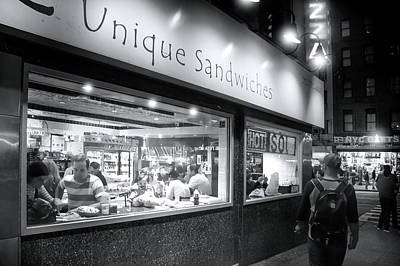 Broadway Photograph - Carve Unique Sandwiches And Pizza by Mark Andrew Thomas