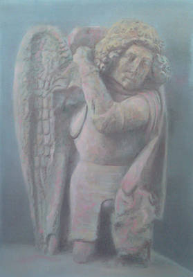 Drawing - Carved  Archangel by Paez  ANTONIO