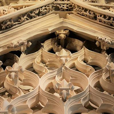 Photograph - Carved Arches by Cheryl Miller