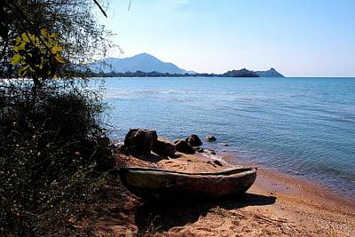 Photograph - Carved Boat At Lake Malawi 01 by Dora Hathazi Mendes
