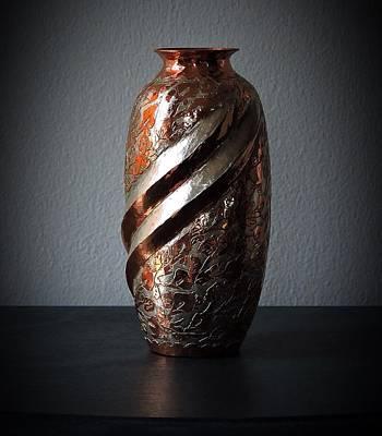 Carved Copper Vase Art Print