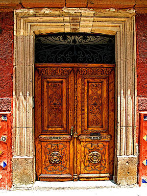 Portal Photograph - Carved Doors by Mexicolors Art Photography
