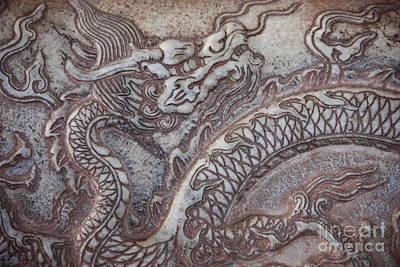 Carved Dragon Art Print by Carol Groenen