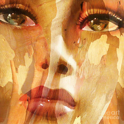 Tears Painting - Carved Emotions by Jacky Gerritsen