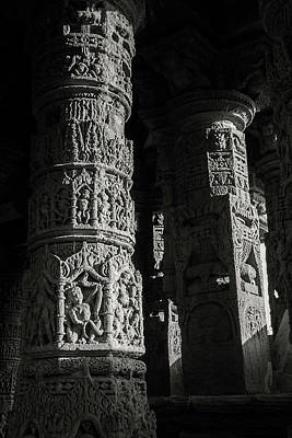 Photograph - Carved Pillars by Hitendra SINKAR