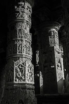 Photograph - Carved Pillars by Hitendra SINKAR