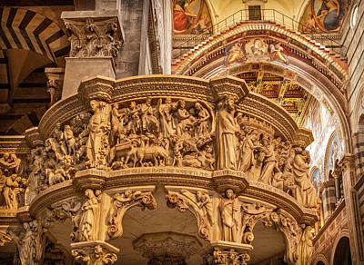 Photograph - Carved Pulpit Of Pisa Duomo by Carolyn Derstine