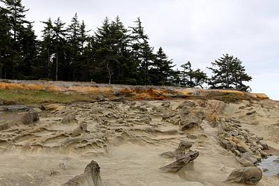 Photograph - Carved Sandstone Along The Oregon Coast - 2 by Christy Pooschke