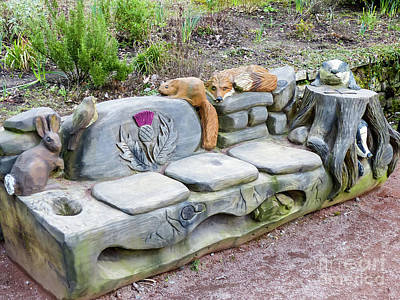 Photograph - Carved Seat by Rod Jones