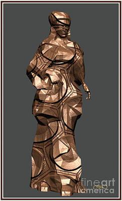 Statue Portrait Digital Art - Carved Statue  2cs by Pemaro
