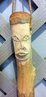 Sculpture - Carved Walking Stick by Kevin Callahan