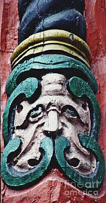 Folk Art Photograph - Carved Window Post Mainz by Sarah Loft