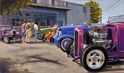 Hot Rod Mixed Media - Carversation by Craig Shillam