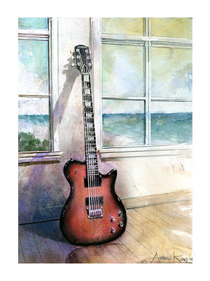 Art Print featuring the painting Carvin Electric Guitar by Andrew King