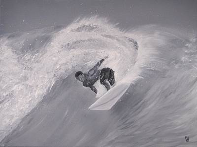 Surf Painting - Carving by Michael Holmes