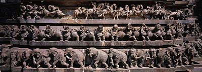 Karnataka Photograph - Carving On The Wall Of A Temple by Panoramic Images