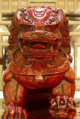 Photograph - Carvings In Jade - 4 - The Red Dragon by Hany J