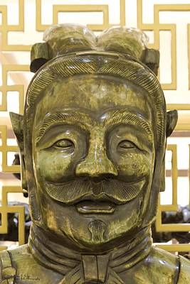 Photograph - Carvings In Jade - 7 - A Warrior's Face  by Hany J