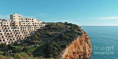 Photograph - Carvoeiro Sol Hotel And Sea In Algarve by Angelo DeVal
