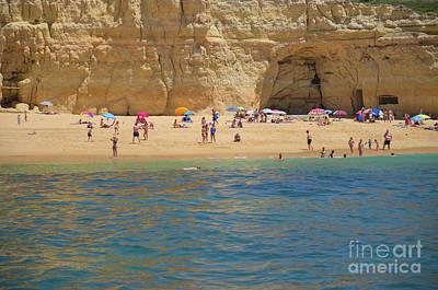 Cliff Photograph - Carvoeiro Summer Beach Scene by Angelo DeVal