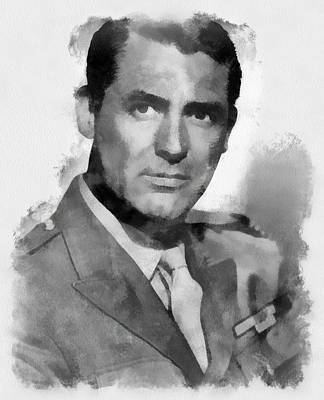Cary Grant Wall Art - Painting - Cary Grant Actor by Esoterica Art Agency