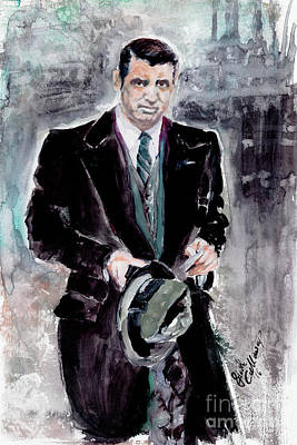 Painting - Cary Grant Classic Movies Actors by Ginette Callaway