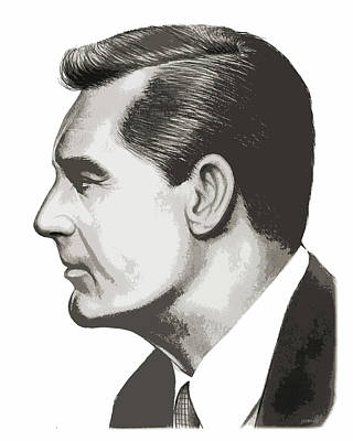 Drawing - Cary Grant by Greg Joens
