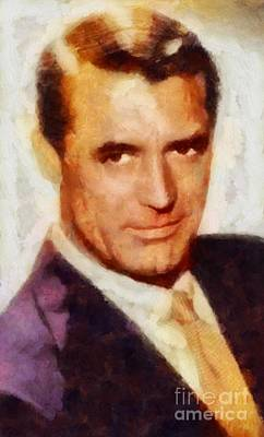 Cary Grant Painting - Cary Grant Hollywood Actor by Sarah Kirk