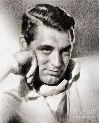 Cary Grant Painting - Cary Grant, Hollywood Legend By John Springfield by John Springfield