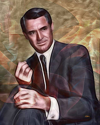 Digital Art - Cary Grant by John Robert Beck