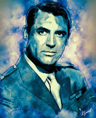 Digital Art - Cary Grant by Kai Saarto