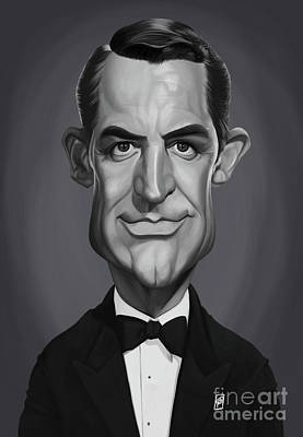 Art Print featuring the digital art Celebrity Sunday - Cary Grant by Rob Snow