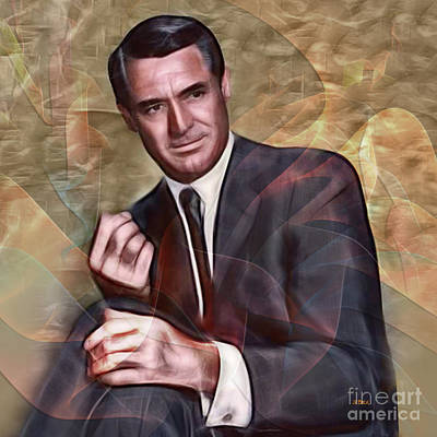 Digital Art - Cary Grant - Square Version by John Beck