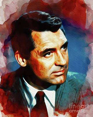 Painting - Cary Grant, Vintage Movie Star by John Springfield