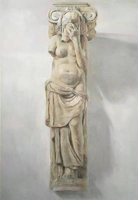 Drawing - Caryatid by Paez ANTONIO