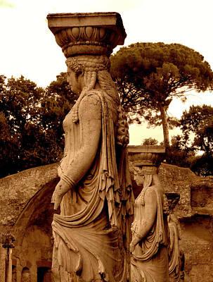 Caryatids Digital Art - Caryatids Of Hadrians Villa by Mindy Newman