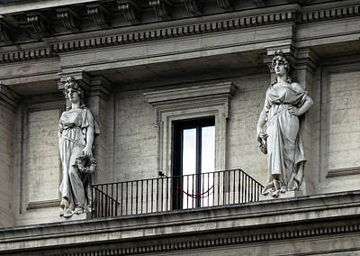 Photograph - Caryatids by Steven Richman