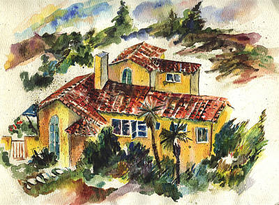 Casa Amarillo Art Print by Lily Hymen