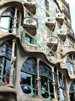 Photograph - Casa Batllo Angles by John Rizzuto