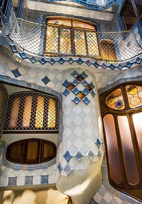 Photograph - Casa Batllo Doors And Windows Barcelona Spain by Adam Rainoff