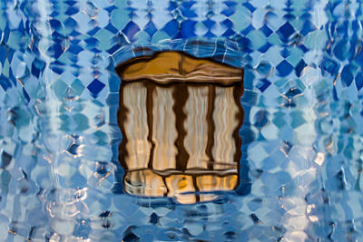 Photograph - Casa Batllo Window Through The Glass by Adam Rainoff