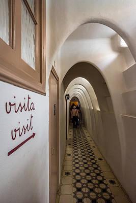 Photograph - Casa Batllo Gaudi Arches Top Floor by Adam Rainoff